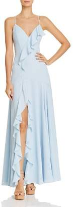 Fame & Partners Callais Ruffle-Trimmed Gown