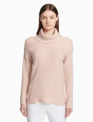 Calvin Klein textured cowl neck pullover sweater