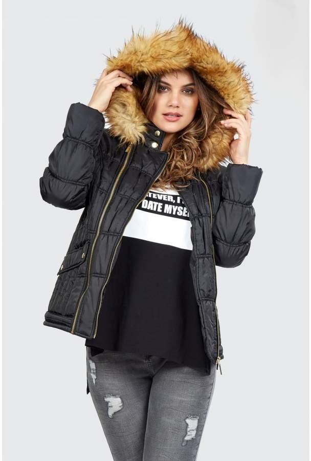 Double Zip Short Puffa Jacket
