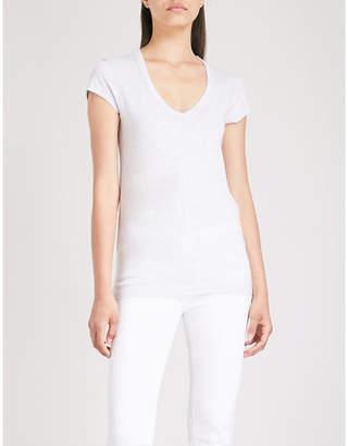 The White Company V-neck cotton-jersey T-shirt