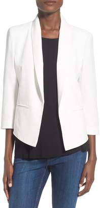 Mural 'Curve' Open Front Shawl Collar Blazer