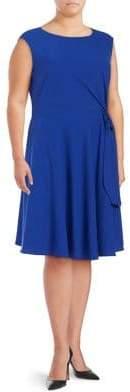 Tahari Arthur S. Levine Plus Waist Tie Dress