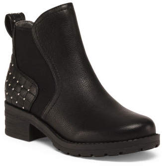 Studded Quilted Lug Sole Booties