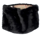 Fur Snood With Camel Check Lining