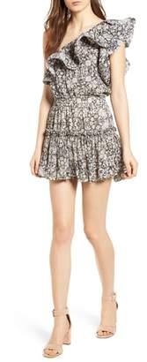 MISA LOS ANGELES Josefine Ruffle One-Shoulder Dress