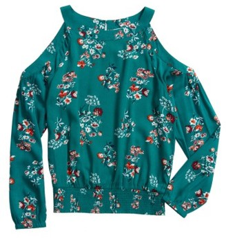 Girl's Tucker + Tate Floral Cold Shoulder Top $39 thestylecure.com