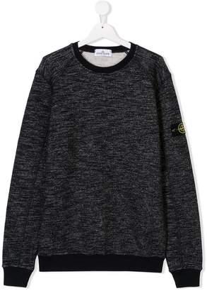Stone Island Junior TEEN logo patch sweatshirt