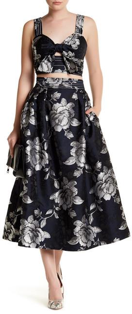 ABS By Allen SchwartzABS by Allen Schwartz Floral Jacquard Pleated Midi Skirt