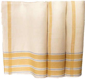 One Kings Lane Vintage ProvenAal Linen Tea Towels - Set of 3 - Chez Vous