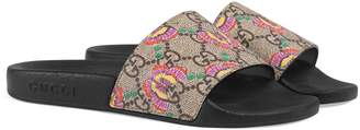 Gucci GG Supreme Butterfly Slide Sandal