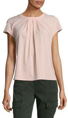 Pleated Short Sleeve Top
