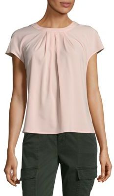 Pleated Short Sleeve Top $59 thestylecure.com