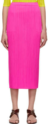 Pleats Please Issey Miyake Pink Pleated Skirt