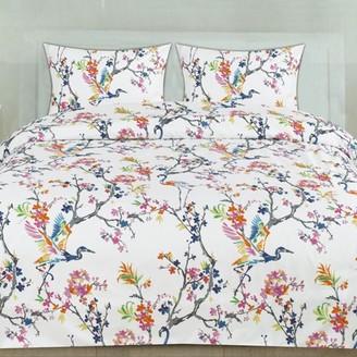 Popular Home Collection Botanical Pastel Floral Pattern 3-Piece Duvet Cover Set