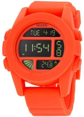 Nixon The Unit Digital Dial Plastic Strap Ladies Watch A197115600