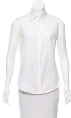 Brooks Brothers Sleeveless Button-Up Top