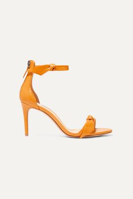 Alexandre Birman Clarita Bow-embellished Glossed-leather Sandals - Orange