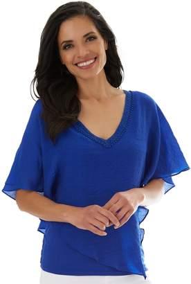 Apt. 9 Women's Gauze-Texture Crochet-Back Top