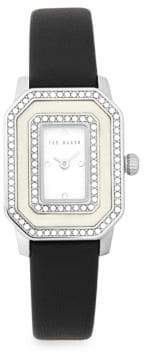 Ted Baker Bliss Glitz Stainless Steel and Leather Strap Watch