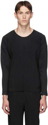 Issey Miyake Homme Plisse Black Le Long Sleeve T-Shirt