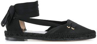 Manolo X Castaner flat lace-up espadrilles