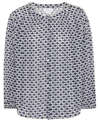 Velvet Mosaic printed cotton blouse