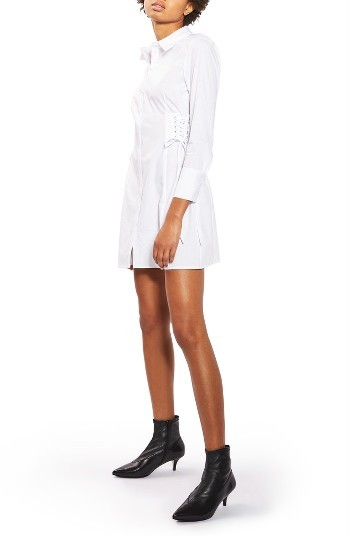 TopshopWomen's Topshop Corset Side Shirtdress