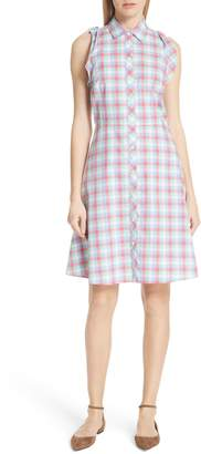 Kate Spade Plaid Poplin Shirtdress
