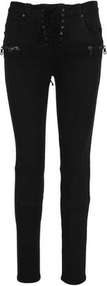 Unravel Wax Dnm Lace Up Skinny Black Black