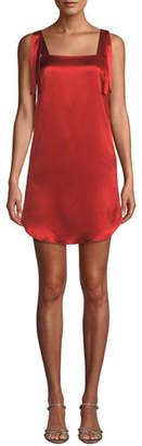 Mestiza New York Ines Bow Tie Tank Dress in Satin