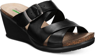 Bare Traps Nealy Wedge Sandals $69 thestylecure.com