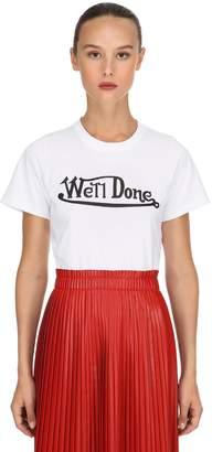 Slim Fit Logo Printed Jersey T-Shirt