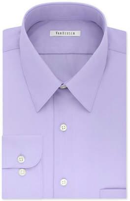 Van Heusen Men Tall Classic/Regular Fit Wrinkle Free Poplin Solid Dress Shirt