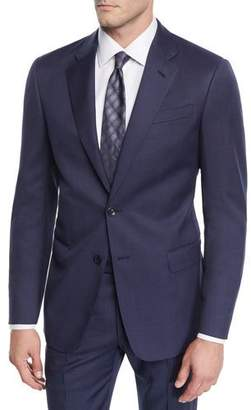 Giorgio Armani Men's Birdseye Windowpane Two-Piece Wool Suit
