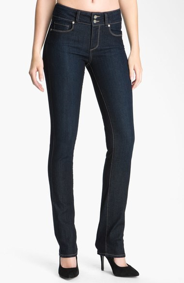 Paige 'Hidden Hills' Straight Leg Stretch Jeans (Fountain)