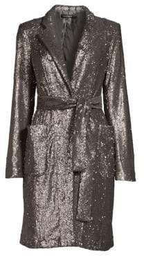 Nanette Lepore Sultana Sequin Coat