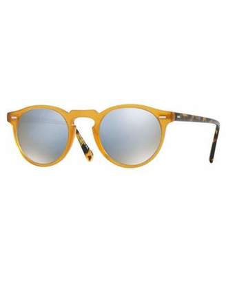 Oliver Peoples Gregory Peck 47 Limited Edition Mirrored Sunglasses, Multicolor