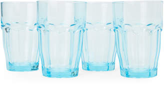 Bormioli Blue 4-Piece Rock Bar Lounge Long Drink Glass Set