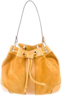Gucci Guccissima & Suede Drawstring Bag