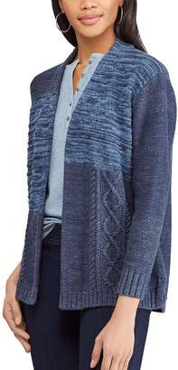 Chaps Women's Patchwork Space-Dye Cardigan Sweater