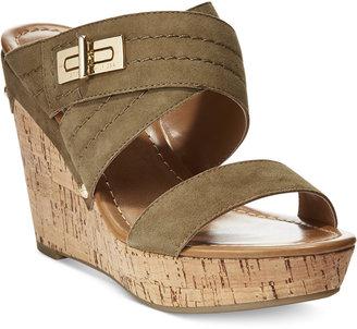 Tommy Hilfiger Mili Wedge Sandals $69 thestylecure.com