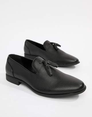 Asos DESIGN vegan friendly tassel loafers in black