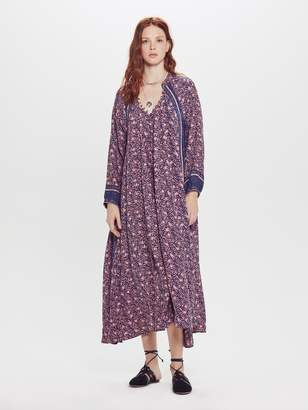 Natalie Martin Fiore Maxi Silk Dress - Rose Coral