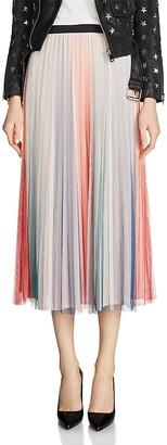 Maje Jonaelo Color-Blocked Pleated Skirt $325 thestylecure.com