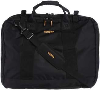 American Tourister (アメリカン ツーリスター) - [アメリカンツーリスター] AmericanTourister AmericanTourister【アメリカンツーリスター】 Smart Garment Bag/スマートガーメントバッグ (ガーメントバッグ/ビジネス/トラベル/ハンガー付) 53T*81003 81 (ブラック/イエロー)