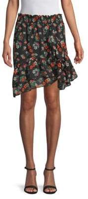 Maje Multicolored Floral Skirt