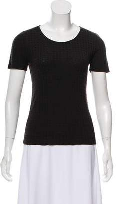 Giorgio Armani Short Sleeve Knit Top