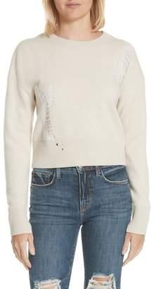 Helmut Lang Distressed Crop Wool Sweater