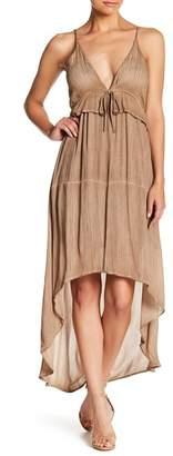 TOV Deep V-Neck Maxi Dress