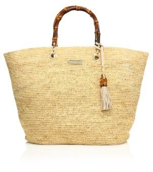 HEIDI KLEIN Savannah Bay Medium Bamboo Raffia Bag $395 thestylecure.com